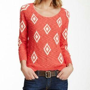 LUCKY BRAND diamond intarsia pullover sweater